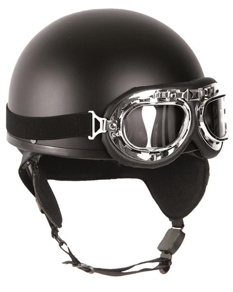 Félcsészés bukósisak szemüveggel, fekete, 16688102