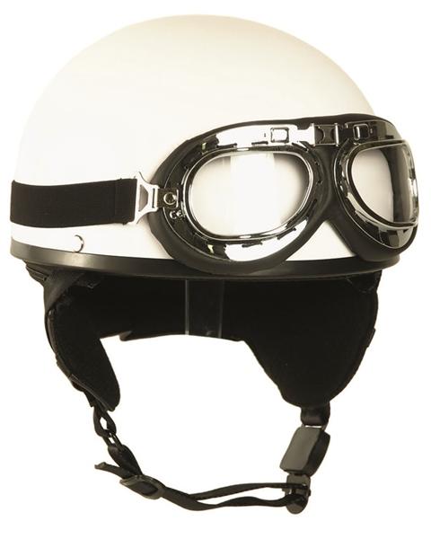 Félcsészés bukósisak szemüveggel, fehér, 16688107
