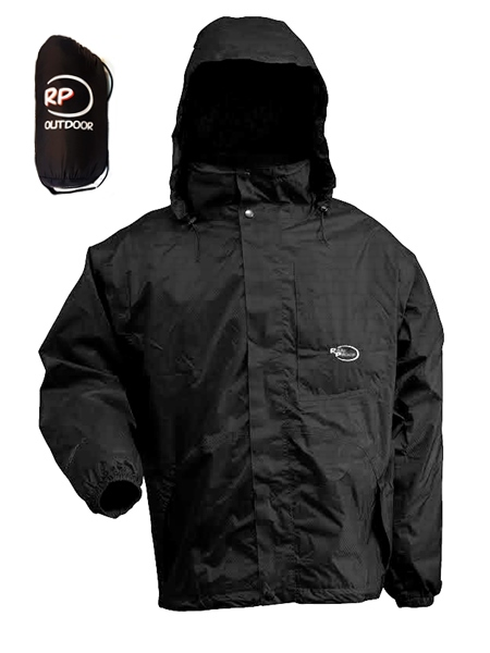 RP Minipack zsebes esőkabát, fekete