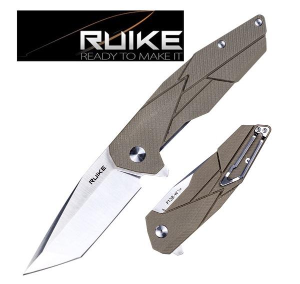 Ruike Tanto Safety Plus egykezes bicska, desert, P138-W