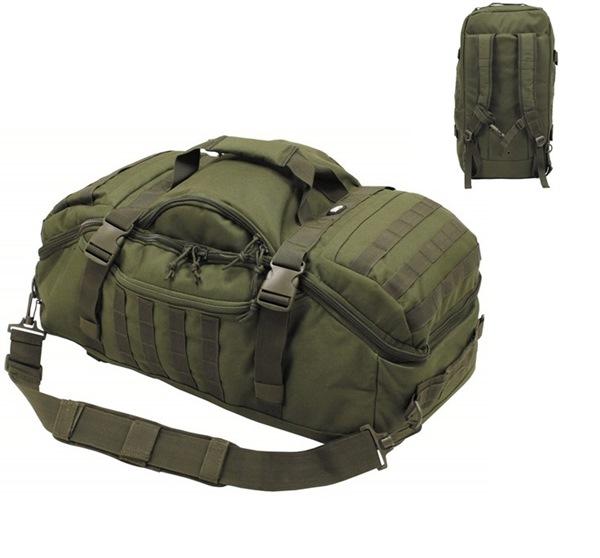 """""""Travel"""" molle utazótáska és hátizsák egyben, oliv, 30655B"""