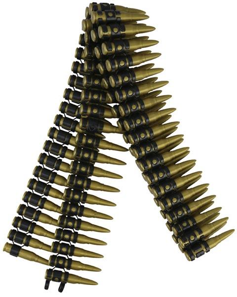 Kombat Delux lőszer öv műanyag lőszerekből, 125cm