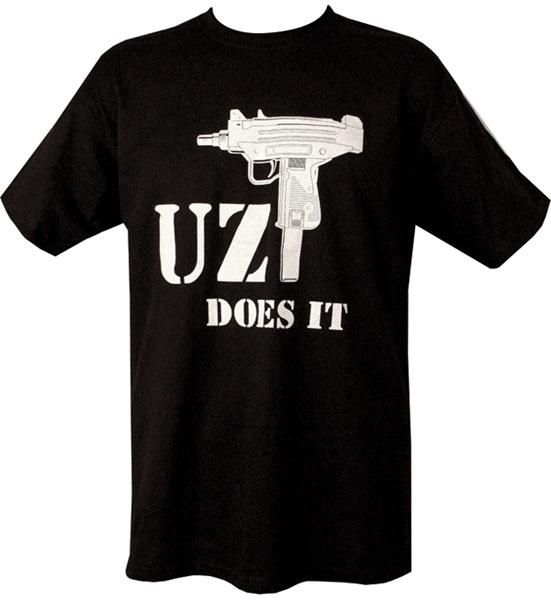 Uzi Does It férfi póló, fekete