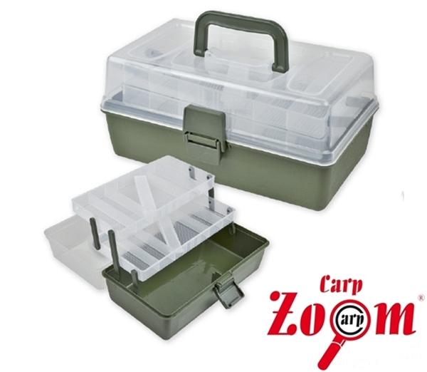 Carp Zoom praktikus horgászláda, 2 fiókos, CZ7467
