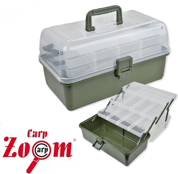 Carp Zoom praktikus horgászláda, 3 fiókos, CZ7849