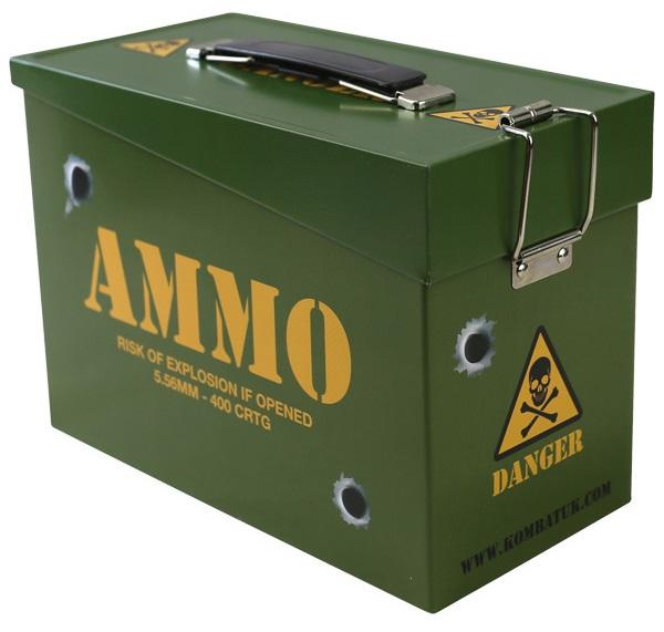 Ammo Tin lőszer és szendvicstároló doboz