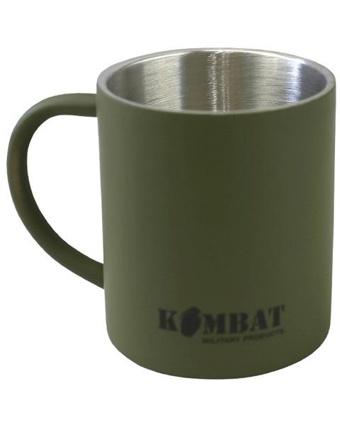 Kombat rozsdamentes, katonai thermo bögre 0,33l, oliv