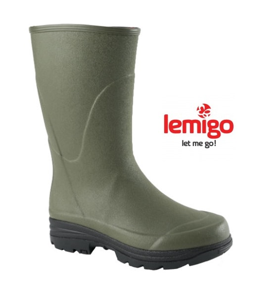Lemigo Ontario rövidszárú kaucsuk unisex csizma, zöld, 104