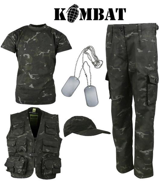 Kombat terepszínű, katonai gyerek szett, BTP Black