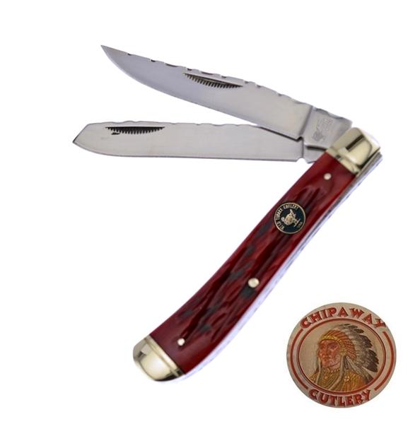 Wild Turkey Cutlery Trapper két pengés zsebkés, FWTC508RPB