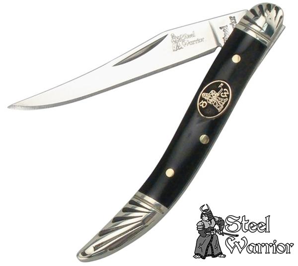 Steel Warrior Toothpick zsebkés kafferbivaly szarv markolattal, FSW109CBH