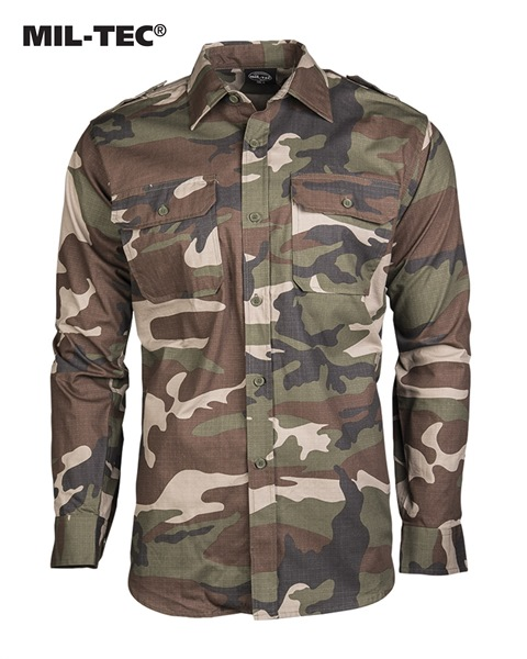 Terepszínű, hosszú ujjú katonai ing ripstop anyagból, CCE tarn, 10915024