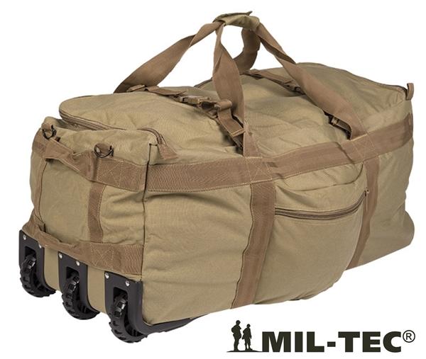 Gurulós katonai utazótáska és hátizsák egyben, coyote, 13854005