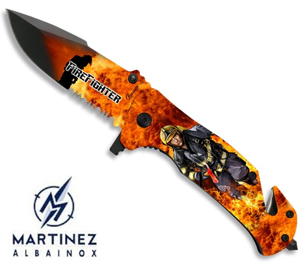 Albainox Rescue Firefighter, tűzoltó kés, 18137-A