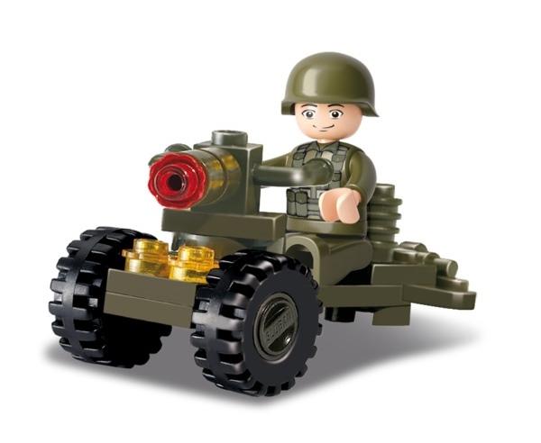 Sluban katona gépágyúval építőjáték, B0118