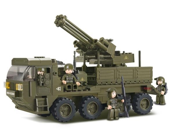 Sluban páncélozott rakétakilövő teherkocsi építőjáték, B0302