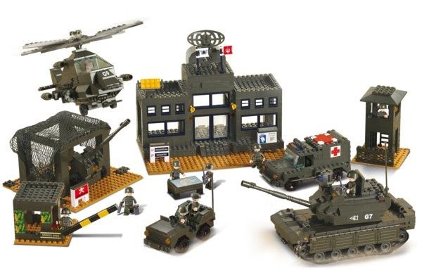 Sluban katonai főhadiszállás építőjáték, B7100