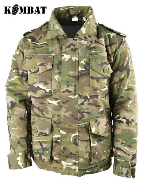 Kombat Safari katonai gyerek kabát, terepszínű, BTP