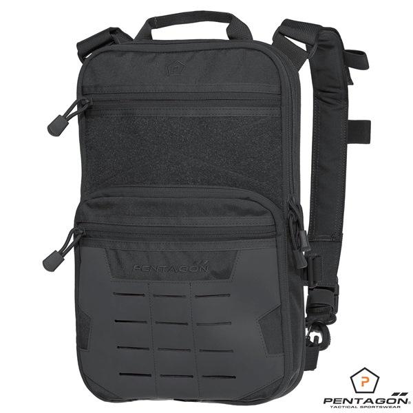"""Pentagon Quick taktikai moduláris """"Laser Molle"""" hátizsák, fekete, K16086"""