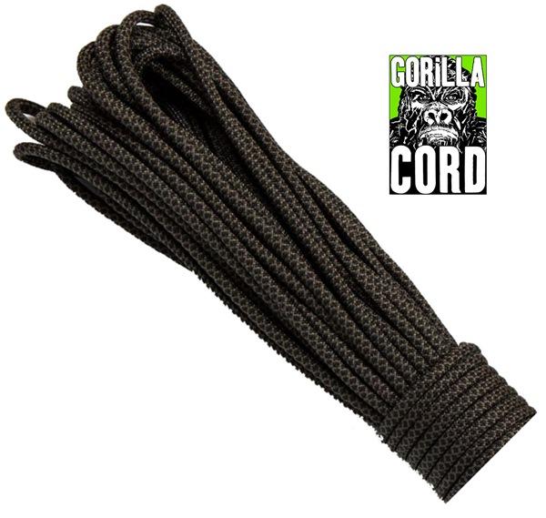 Paracord (ejtőernyős) kötél, 20 méter, Black Snake, #308