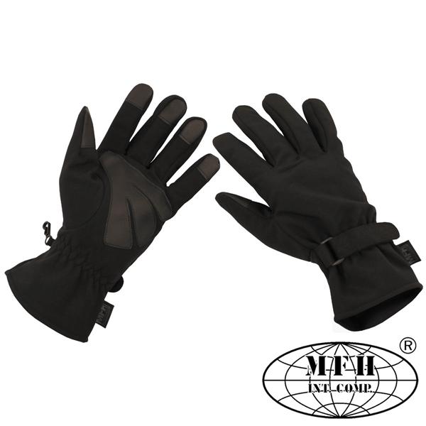 Softshell taktikai kesztyű, fekete, 15780A