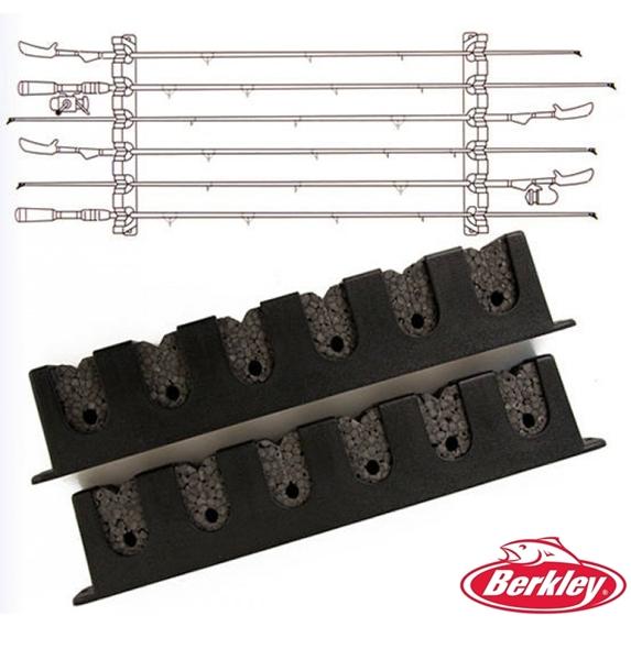 Berkley vízszintes fali bottartó, 6 bothoz, 1318400