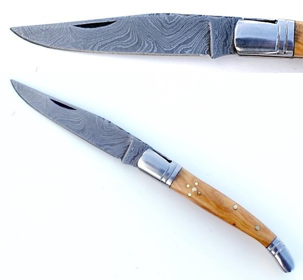 Superstuf Laguiole Damascus bicska fa markolattal, 19 cm-es, 783334