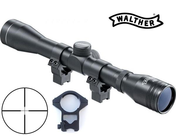 Walther fegyvertávcső, 4x32 + 9-11mm szerelék magasított, UM21500F