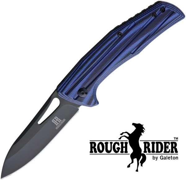 Rough Rider Slip Joint Blue G-10, RR1817