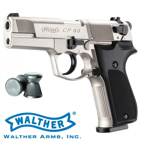 Walther CP88 CO2-es légpisztoly, nikkel, UM4160003