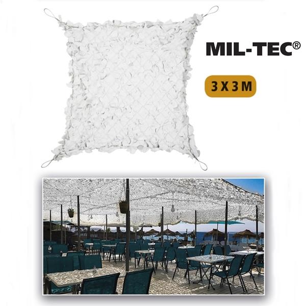 Árnyékoló háló 3x3 m, fehér, 14481307