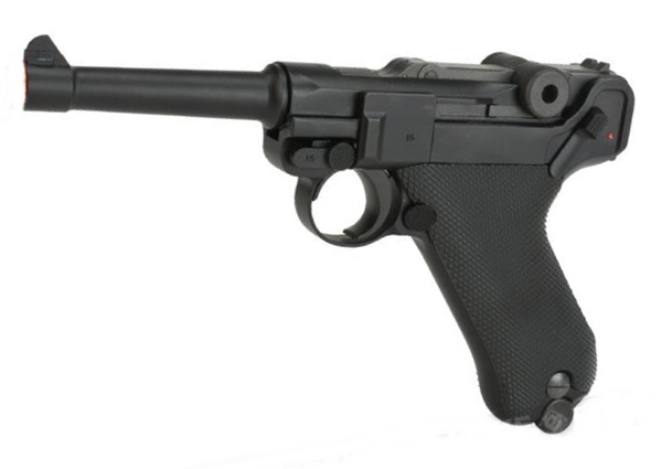 P08 airsoft pisztoly, full fém