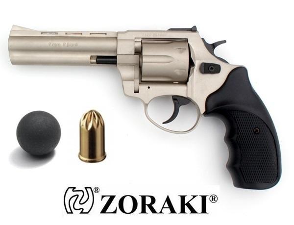"Zoraki R1 GG gumilövedékes revolver 4,5""-os csővel, nikkel"