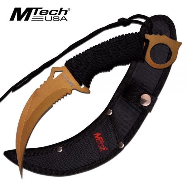 MTech Hawkbill Karambit Gold, MT2076GD