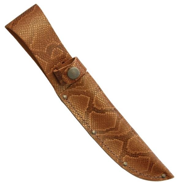Python mintájú bőr késtok, SH1200