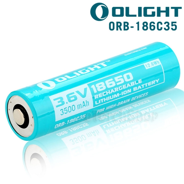 Olight 18650 Litium-ion akkumulátor dokkolós lámpákhoz, 3500mAh, 186C35