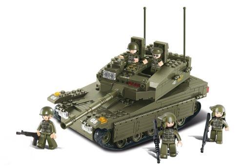 Sluban Merkava tank építőjáték, B0305