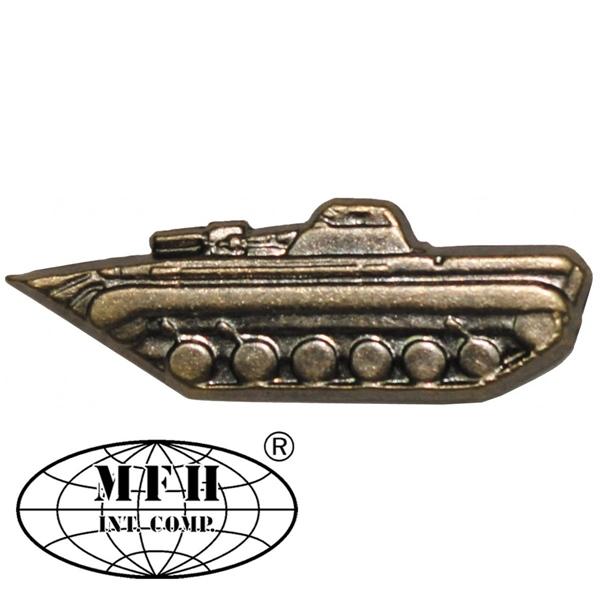 "CZ/SK kitűző, bronz, ""Panzer"", 636100B"