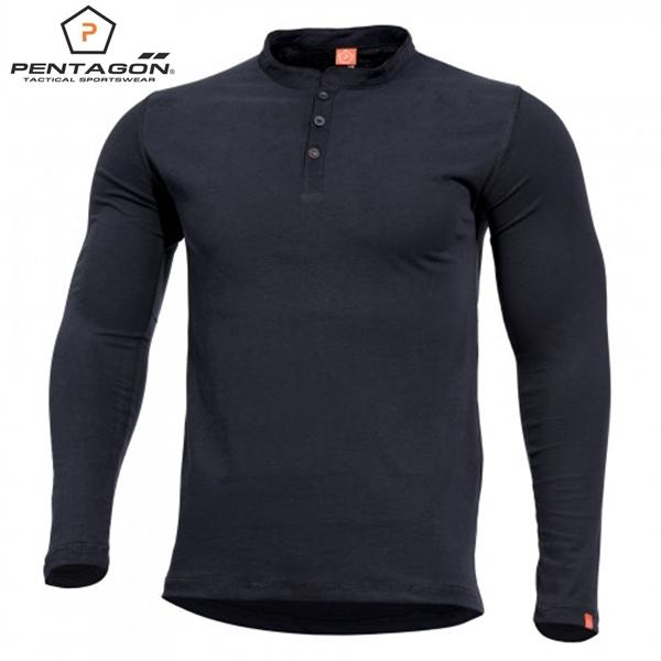 Pentagon hosszú ujjú póló, fekete, K09016
