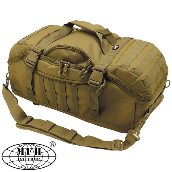 """""""Travel"""" molle utazótáska és hátizsák egyben, coyote, 30655R"""