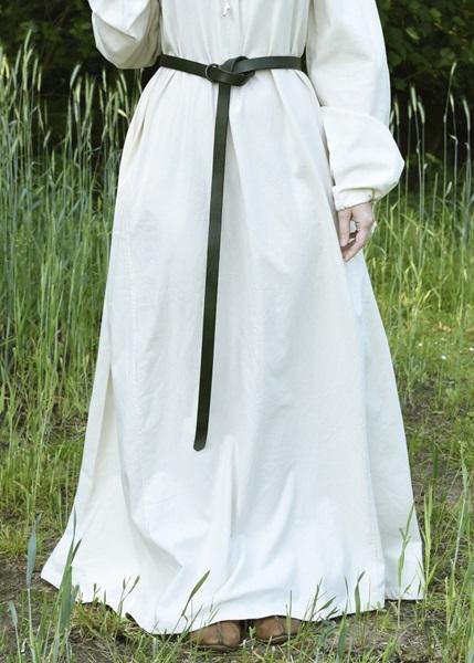 Női bőr öv réz karikával, 160 cm-es, 1616678039