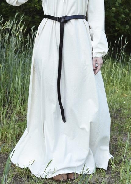Női bőr öv réz karikával, 190 cm-es, 1616678038