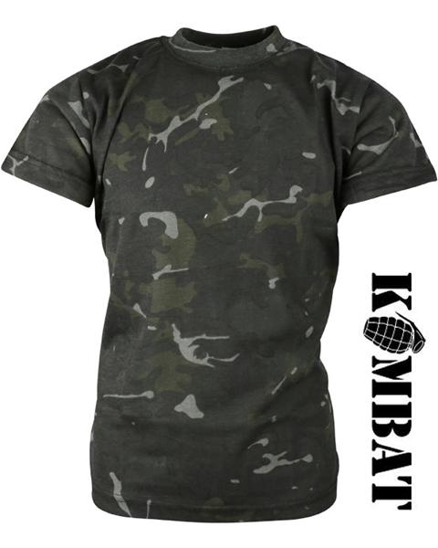 Kombat katonai gyerek póló, terepszínű, BTP black