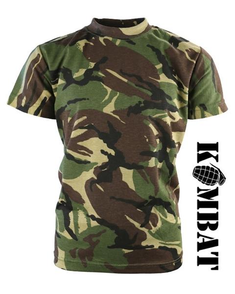 Kombat katonai gyerek póló, terepszínű, DPM
