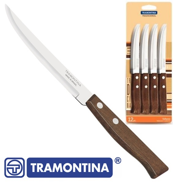 Tramontina konyhakés sima pengével, 12 db, 22212/905