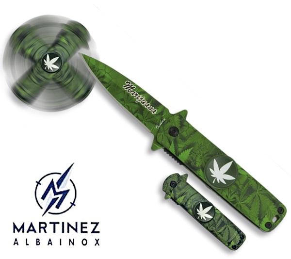 Albainox Fidget Spinner Cannabis bicska, 18285-A