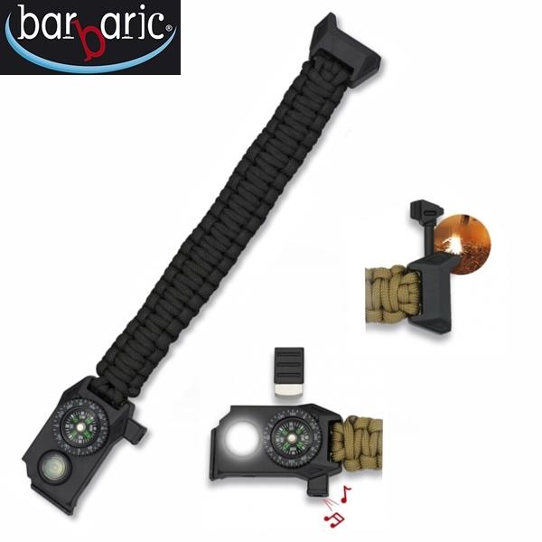 Barbaric túlélő paracord karkötő, fekete, 33905-NE