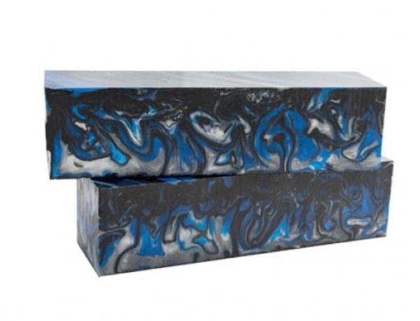 Acryl Blue Damascus markolatanyag, 130x40x30 mm, 18040