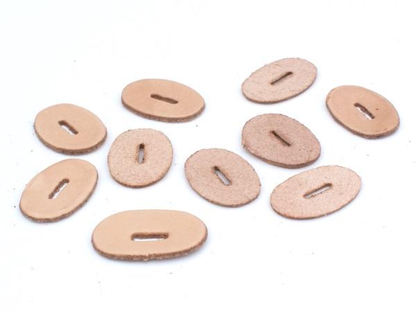 Bőr karikák késmarkolathoz, világosbarna, 18520