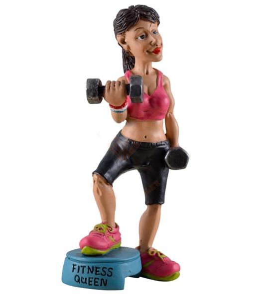 Funny World fitnesslady figura, 815-9648